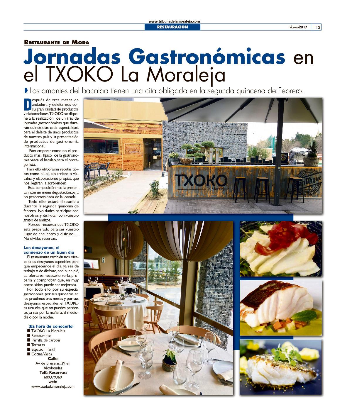 Jornadas Gastgronómicas Bacalo Txoko La Moraleja
